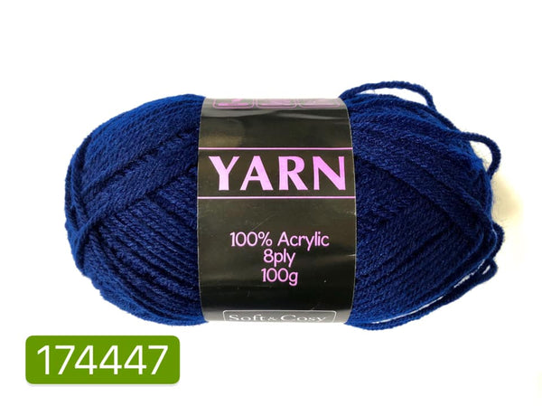 Knitting Yarn Navy Blue 100g