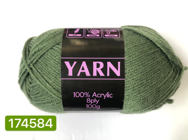 Knitting Yarn Army Green 100g