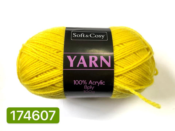 Knitting Yarn Canary Yellow 100g