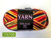 Knitting Yarn Multi Colour Darks 100g