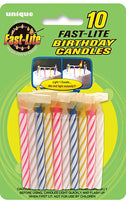 Birthday Candles 10pk Fast Light