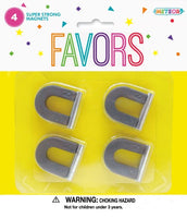 Magnets U Shape 4pk