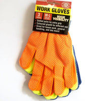 Work Gloves High Visibility 3 Pairs