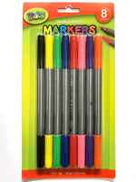 Markers Double Ended Felt Tip 8pk