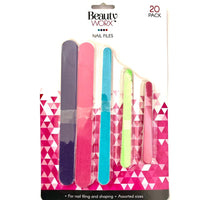 Nail Files Assorted Sizes 20pk