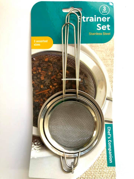 Strainers Set 3pk Stainless Steel