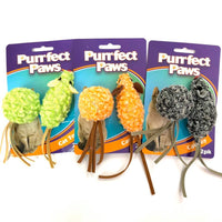 Cat Toy Mouse Fringe Tail Sml 2pk