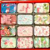 Tin Box Mini Rect Flamingo