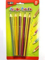 Multi Colour Jumbo Pencils 5pk