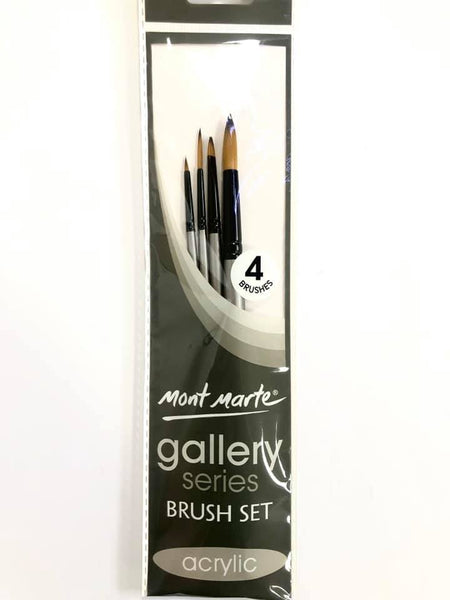Brush Set Gallery Acrylic 4pc
