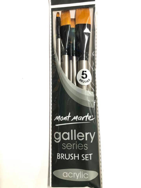 Brush Set Gallery Acrylic 5pc