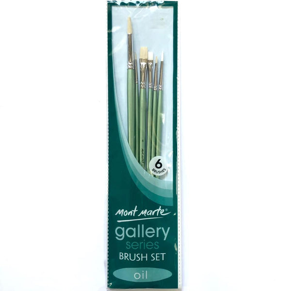Brush Set Gallery Oil 6pc