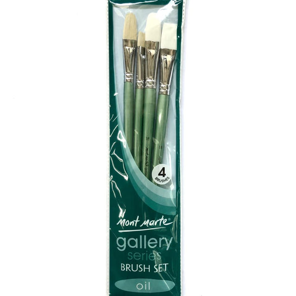 Brush Set Gallery Oil 4pc