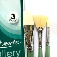 Brush Set Gallery Oil 3pc