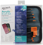 Acrylic Brush Set in Wallet 11pce