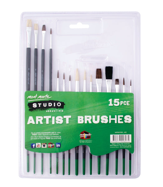 Paint Brush Set 15pce Basic Type