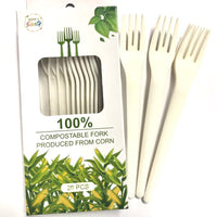 Disposable 100% Compostable Fork 20pk