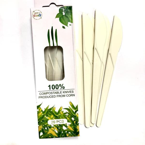 Disposable 100% Compostable Knives 20pk
