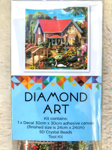 Diamond Art 30x30cm Cottage