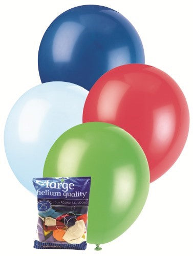 Balloons 25pk Multi Coloured