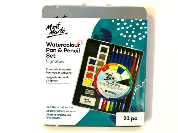 Watercolour Pan And Pencil Set 21pc