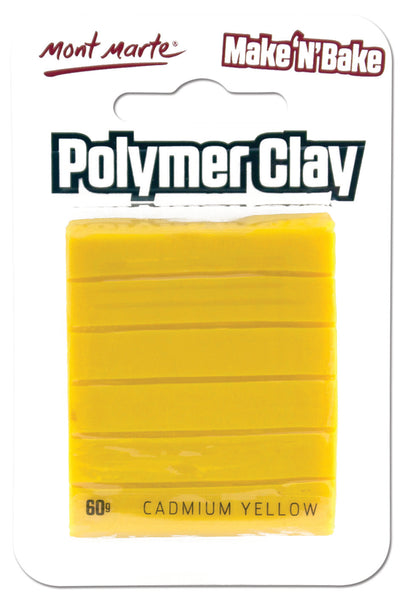 Polymer Clay Make N Bake 60g Cadmium Yellow