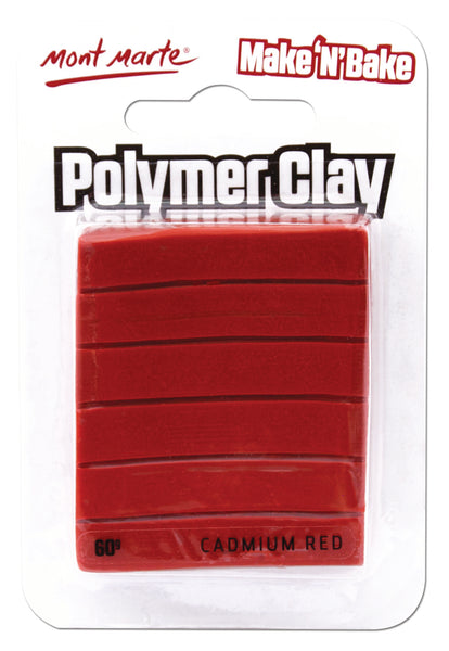 Polymer Clay Make N Bake 60g Cadmium Red