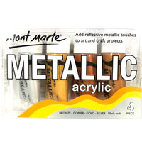 Metallic Acrylic Paint 50ml 4pce