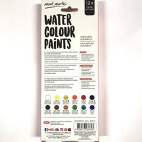 Paint Set Watercolour 12pc x 12ml