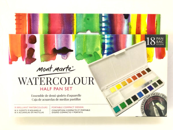 Paint Watercolour Half Pan Set 18pk
