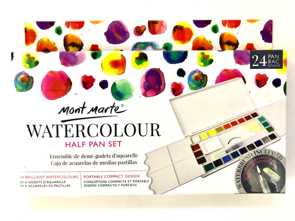 Watercolour Half Pan Set 24 Colour