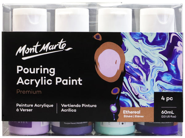 Paint Pouring Acrylic 60ml 4pc -Ethereal