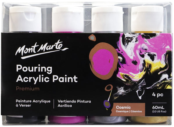 Paint Pouring Acrylic 60ml 4pc - Cosmic