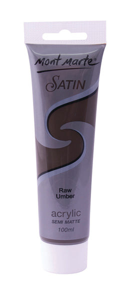 Paint Satin Acrylic 100ml Raw Umber
