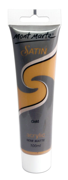 Paint Satin Acrylic 100ml Gold