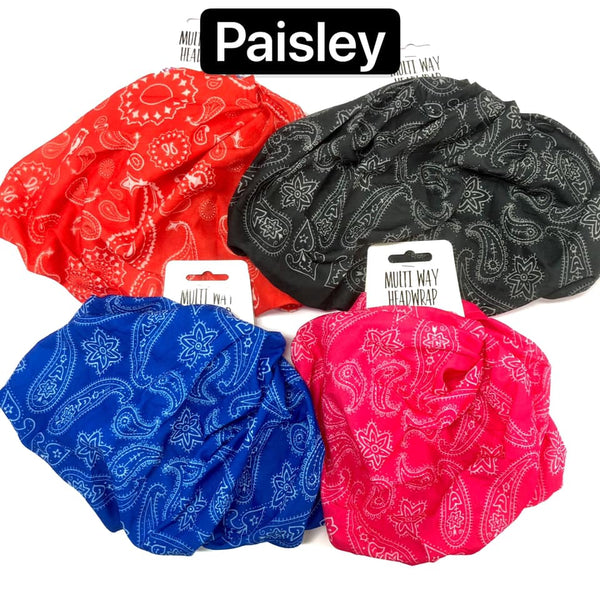 Head Wrap Multi Way Paisley