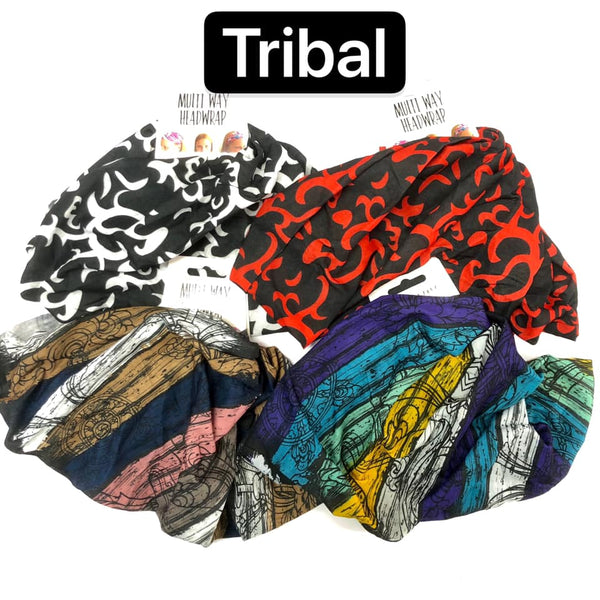 Head Wrap Multi Way Tribal