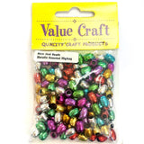 Bead Metallic Oval 6mm Assorted 20g