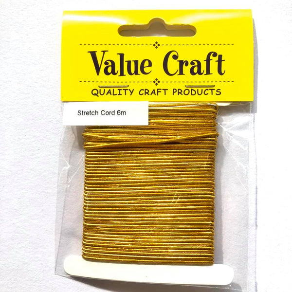 Stretch Elastic Cord Gold 6m