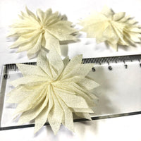 Flower Chiffon Cream 4pcs