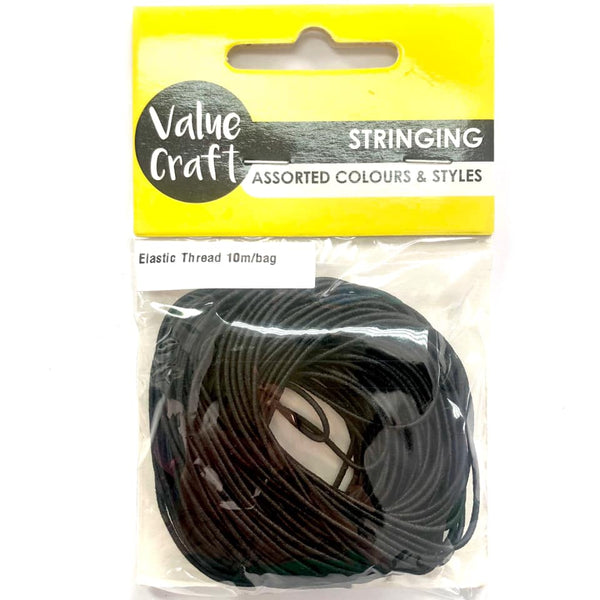 Elastic Thread Black 10m
