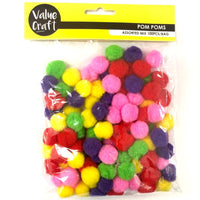 Pompom 20mm Mixed 100pcs