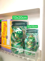 Zip Lock Bags Green Leaf Mason Jar 6pcs