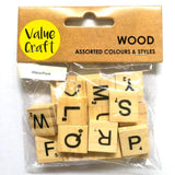 Wooden Scrabble Letters 26pc