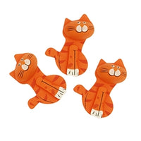 Wooden Shapes Orange Cats 3pcs