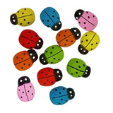 Wooden Ladybugs multicolor 25pk