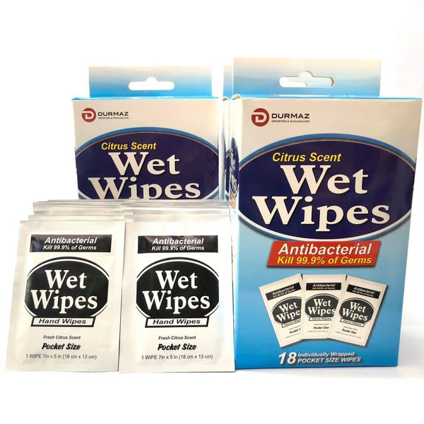 Wet Wipes Antibacterial 18pk