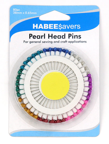 Pins Pearl Head 38mm 80pc
