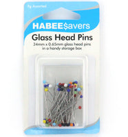 Pins Glass Head 34mm 9gm