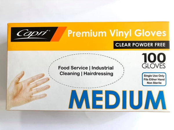 Disposable Vinyl Gloves 100pk (Blue Size:M)